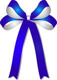 Blue - silver ribbon Royalty Free Stock Image