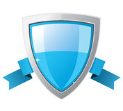 Blue silver shield Stock Image