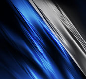 Blue and silver silk Stock Image