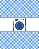 The blue silverware Stock Photos