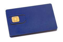Blue SIM card Royalty Free Stock Image