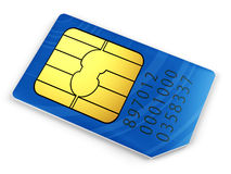 Blue SIM card Royalty Free Stock Photos