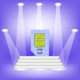 Blue SIM Card Stock Photos