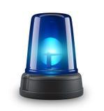 Blue siren. 3d illustration on white background Royalty Free Stock Image