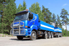 Blue Sisu 18E630 Heavy Duty Truck Stock Photo