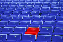 Blue sit rows Stock Photos