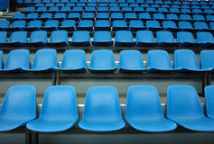 Blue sittings. Of stadium's stand Royalty Free Stock Images