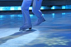 Blue Skates royalty free stock image