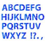 Blue Sketch Alphabet Royalty Free Stock Photos