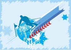 Blue ski background Royalty Free Stock Photography