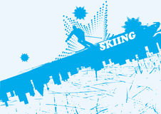 Blue ski background Royalty Free Stock Image