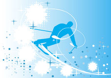 Blue  ski banner Stock Images