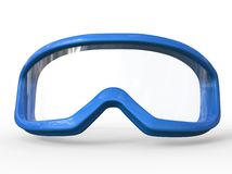Blue ski goggles on white background Stock Photography