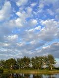 Blue skies. Summer landscape stock photo