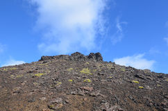 Blue Skies Above Eldborg Crater in Iceland Stock Image