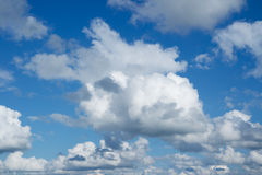 Blue skies with clouds Stock Photography