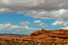 Blue skies and clouds. Over the rocks Stock Photo
