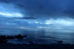 Blue Skies. Cloudy sky near sunset using tungsten light balance Stock Photos