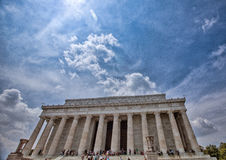 Blue Skies Ensconce the Lincoln Memorial, V-E Day, May 2015 Royalty Free Stock Photography