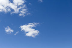 Blue skies and high cirrus clouds Stock Images