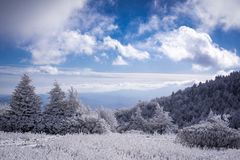 Blue skies over the Appalachian Trail Royalty Free Stock Photography