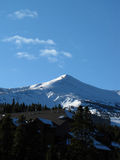 Blue skies over Beaver Creek, CO. A beautiful day at the slopes in Beaver Creek Royalty Free Stock Photo