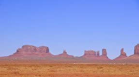 Blue skies over Monument Valley in Utah Stock Image