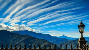 Blue skies over mountains Royalty Free Stock Image