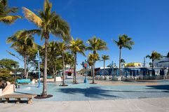Blue skies over Times Square, the heart of Fort Myers Beach. Royalty Free Stock Images