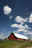 Blue Skies/Red Barn royalty free stock images