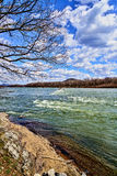 Blue Skies and River From Island Royalty Free Stock Photo