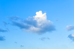 Blue skies with some clouds in the sky is bright. Stock Photos