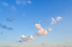 Blue skies with some clouds in the sky is bright. Royalty Free Stock Photos