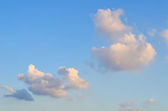 Blue skies with some clouds in the sky is bright. Royalty Free Stock Photo