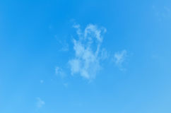 Blue skies with some clouds in the sky is bright. Royalty Free Stock Photography