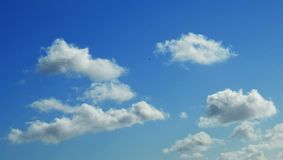 Blue Skies with White Clouds Royalty Free Stock Photo
