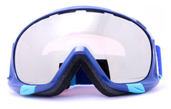 Blue Skiing goggles isolated on white background Royalty Free Stock Photos