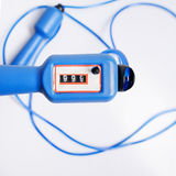 Blue skipping rope Stock Photos