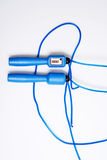 Blue skipping rope Royalty Free Stock Photography