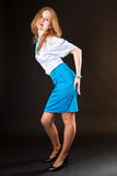 Blue skirt Stock Images