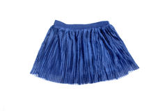 Blue skirt. Short blue skirt isolated on white background Royalty Free Stock Photos