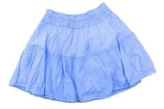 Blue skirt for girl. Royalty Free Stock Photo