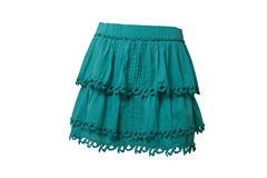 Blue skirt. Isolated on white Royalty Free Stock Photo