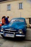 Blue SKODA car Stock Images