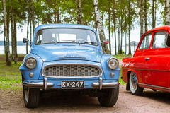 Blue Skoda Felicia coupe, retro-club of Czech automaker Royalty Free Stock Photography
