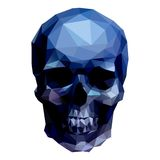 Blue skull Royalty Free Stock Photos