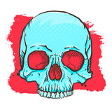 Blue Skull Royalty Free Stock Images