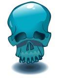 Blue Skull Vector Illustration. Stock Photos