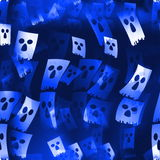 Blue skulls background Stock Photo