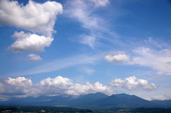 The blue sky. Above the chine Royalty Free Stock Image